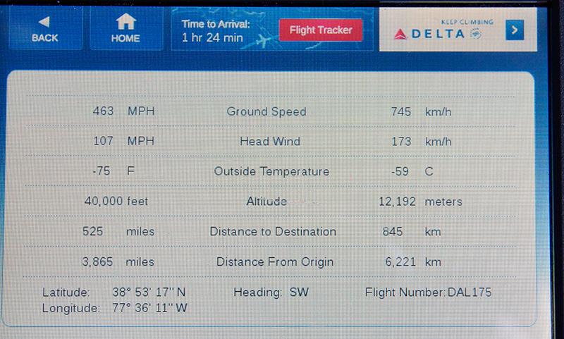 Blick auf die Flugdaten - ganz schön windig.