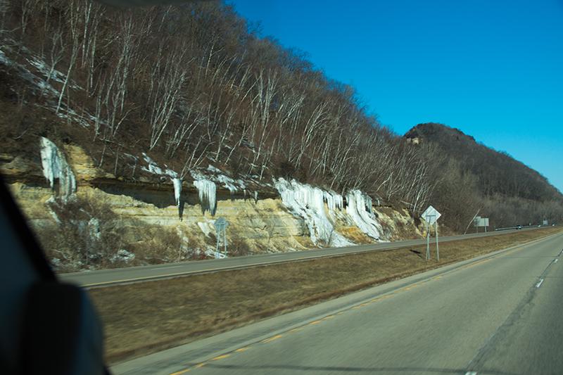 Eisformation am Mississippi