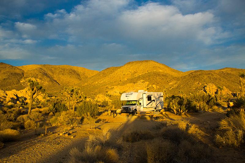 Unser RV auf Ryans Campground