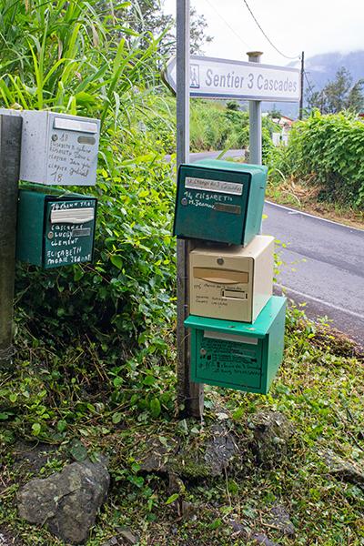 Briefkästen à La Réunion
