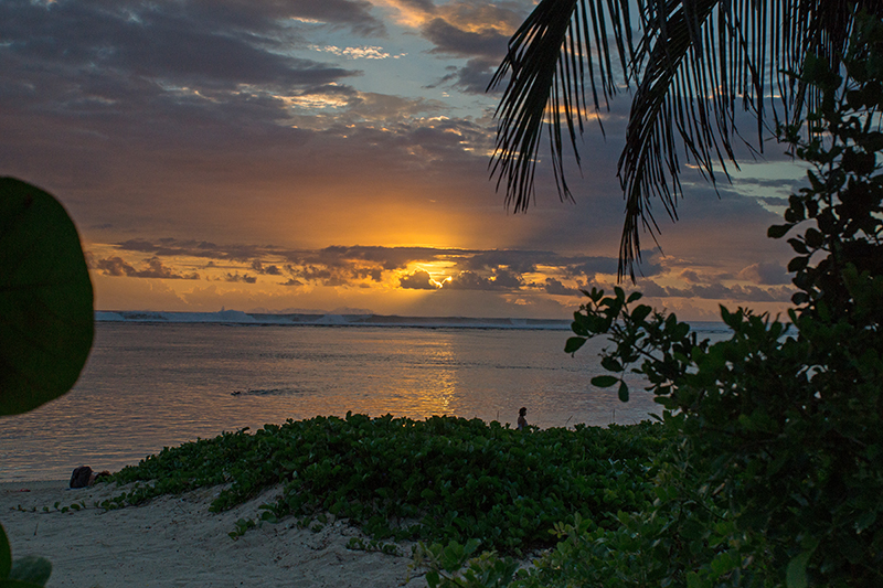 Sunset am Strand von L`Ermitage les Bains
