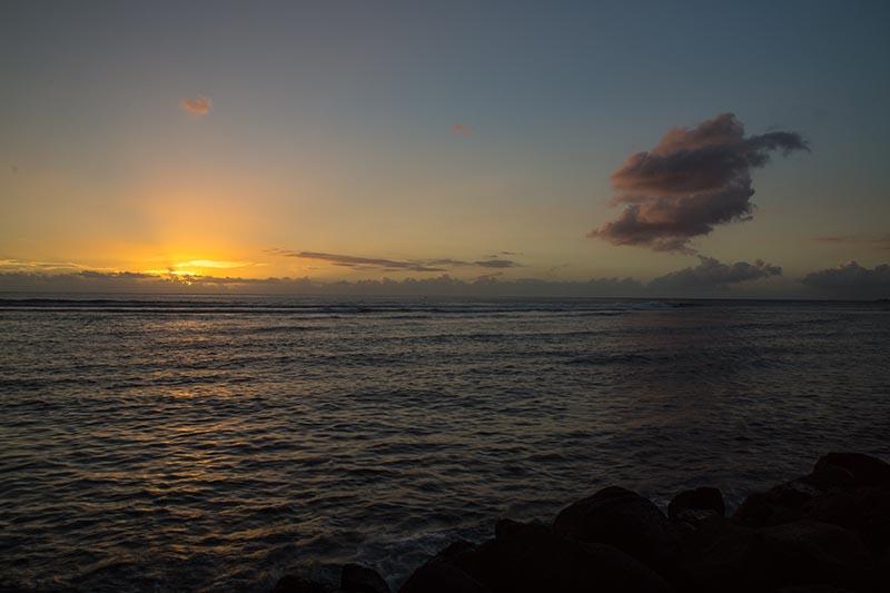 Sonnenuntergang in Saint Leu