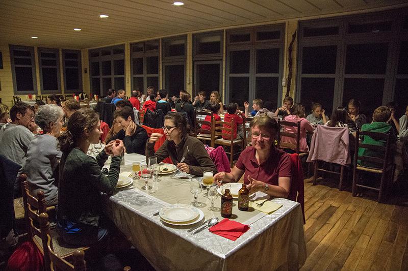 Abendeessen am Vulkan